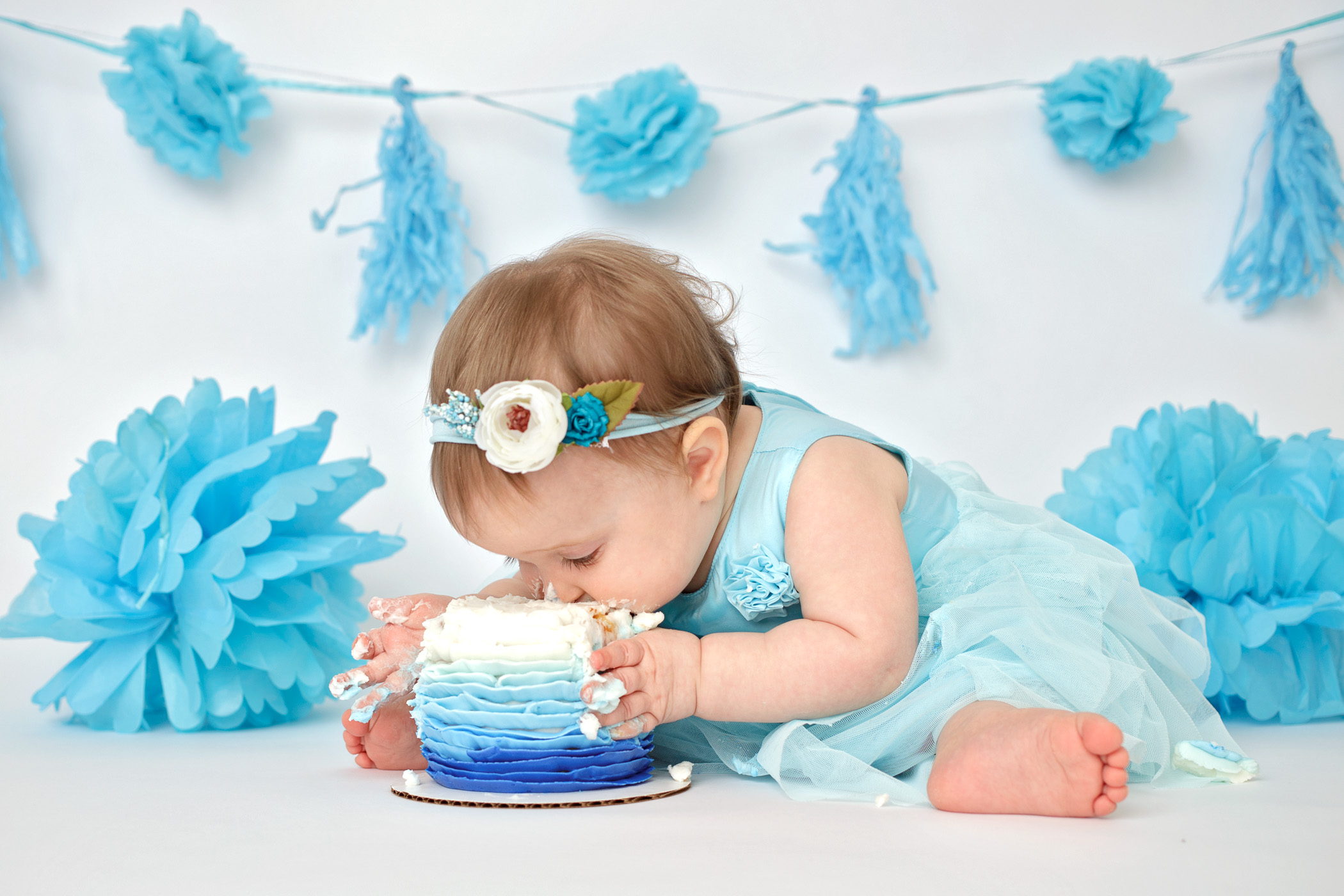 Toledo First Birthday Cake Smash Photography Studio